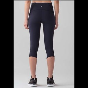 "Lululemon Train Times Crop (17"") Midnight Navy"